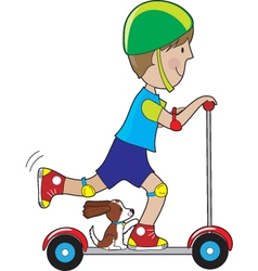 Scooter Boy vector image