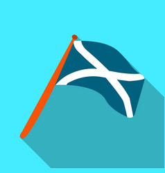 scotland flag on a wooden stickthe scottish vector image