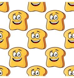 Seamless pattern cartoon bread toast slices vector