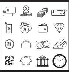 set money line icon vector image
