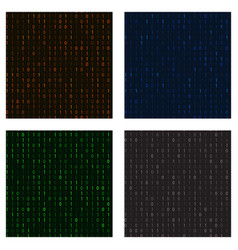 Set of seamless patterns in a matrix of ones and vector