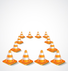 Square from traffic cones vector image