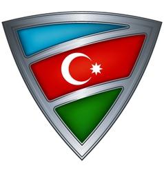 steel shield with flag azerbaijan vector image vector image