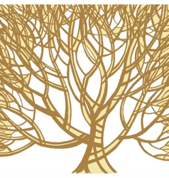 Stylized abstract brown tree Art vector image