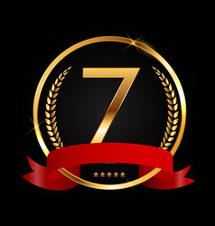 Template logo 7 years anniversary vector