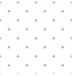 tile pattern with violet triangles on white vector image