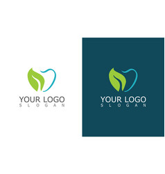 tooth herbal logo vector image