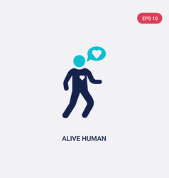 Two color alive human icon from feelings concept vector