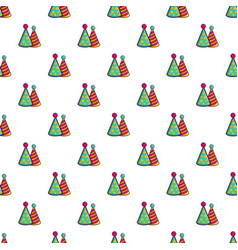 Two colorful party hats pattern vector