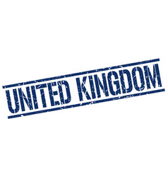 United kingdom blue square stamp vector