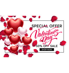 Valentines day sale background with heart vector