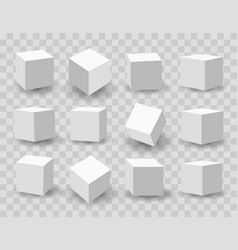white 3d modeling cubes vector image