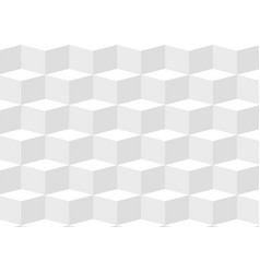 white three dimentional geometric background vector image