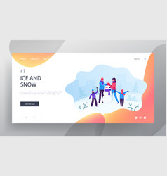 winter time outdoor activity website landing page vector image