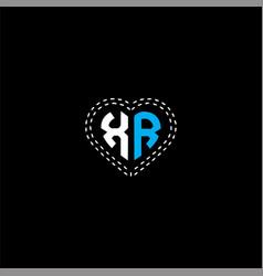 X r letter logo creative design on black color vector