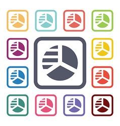circle diagram flat icons set vector image