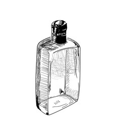 hand-drawn alcohol bottle vector image