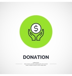 Isolated icon of donations vector image vector image