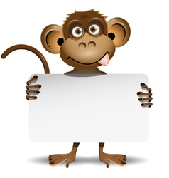 monkey with a white background vector image vector image