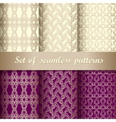 Set of seamless pattern 5 vector image vector image