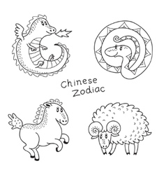 Set of the Chinese zodiac signs vector image