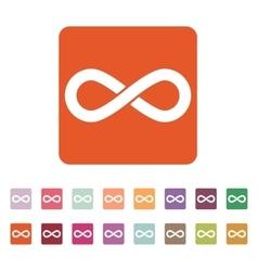 The infinity icon infinity symbol flat vector
