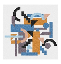 Abstract geometric background in cubism style vector image