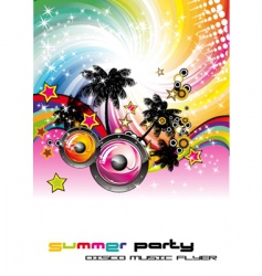dance party flyer vector image vector image