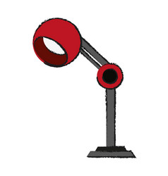 lamp office draw vector image vector image
