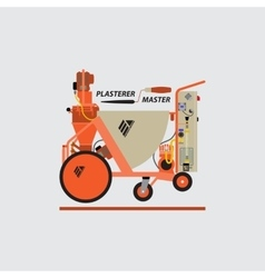 Plastering Machines vector image vector image