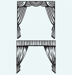 Silhouette curtain vector