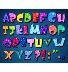 sparkling alphabet vector image vector image