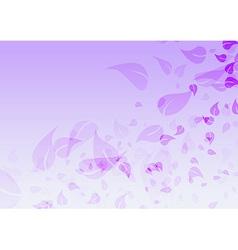 Transparent flower wind background vector image