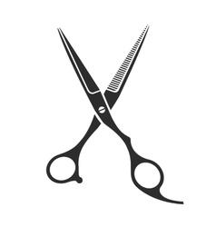 Vintage barber shop scissors vector image vector image