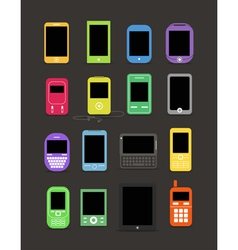 cellphone collection vector image