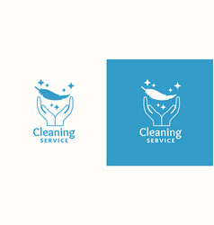 logo for company cleaning service vector image