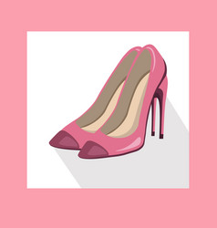 sexy lady shoes pumps summer style pink vector image vector image