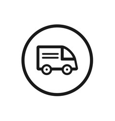 truck icon on a white background vector image
