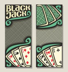 Banners for blackjack vector