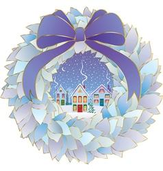 Christmas idyll vector image vector image