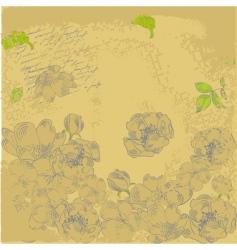 grunge retro stylized background vector image