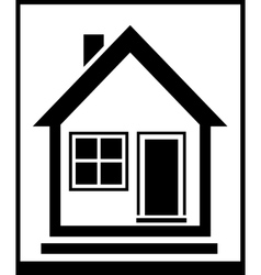isolated home silhouette vector image