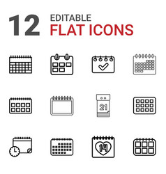 12 month icons vector
