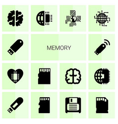 14 memory icons vector