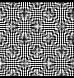 Abstract checkered seamless pattern with 3d vector