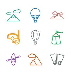 adventure icons vector image
