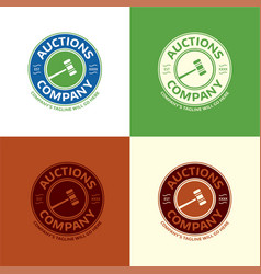Auctions company logo vector