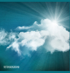 background sun over clouds vector image