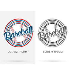 Baseball text vector