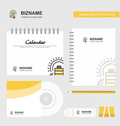 battery logo calendar template cd cover diary and vector image
